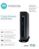 Motorola MB7220 DOCSIS 3.0 Cable Modem 343 Mbps Comcast Xfinity Time Warner Cable Spectrum Optimum
