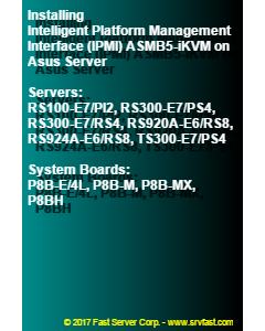 Installing Intelligent Platform Management Interface (IPMI) ASMB5-iKVM on Asus Server