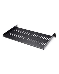"StarTech.com 1U Vented Server Rack Cabinet Shelf - 10in Deep Fixed Cantilever Tray - Rackmount Shelf for 19"" AV/Data/Network Equipment Enclosure with Cage Nuts & Screws - 44lbs Capacity (CABSHELFV1U) CABSHELFV1U"