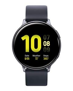 Samsung Galaxy Watch Active2 W/ Enhanced Sleep Tracking Analysis Auto Workout Tracking and Pace Coaching (44mm GPS Bluetooth) Aqua Black - US Version with Warranty SM-R820NZKAXAR