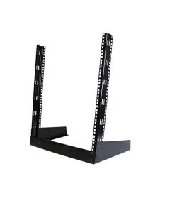 "StarTech.com 12U Open Frame Network Rack - 19"" 2 Post Free Standing Desktop Rack for Computer AV Media IT Data & Server Room Equipment (RK12OD) RK12OD"