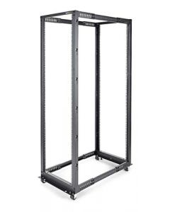 "StarTech.com 42U Open Frame Server Rack - 4 Post Adjustable Depth (22"" to 40"") Network Equipment Rack w/ Casters/Levelers/Cable Management (4POSTRACK42),Black 4POSTRACK42"