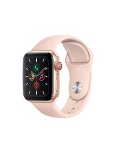 Apple Watch Series 5 (GPS + Cellular 40mm) - Gold Aluminum Case with Pink Sport Band MWWP2LL/A