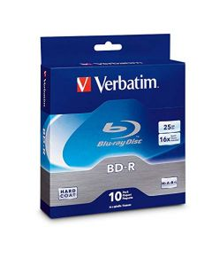 Verbatim BD-R 25GB 16X Blu-ray Recordable Media Disc - 10 Pack Spindle - 97238 97238