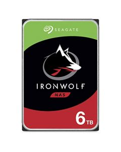Seagate IronWolf 6TB NAS Internal Hard Drive HDD – CMR 3.5 Inch SATA 6Gb/s 5600 RPM 256MB Cache for RAID Network Attached Storage ST6000VN001