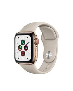 Apple Watch Series 5 (GPS+Cellular 40mm) - Gold Stainless Steel Case with Stone Sport Band MWWU2LL/A