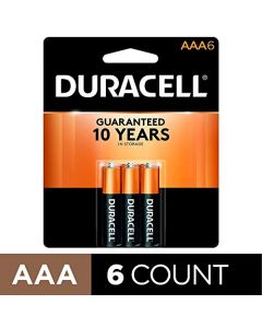 Duracell - CopperTop AAA Alkaline Batteries - long lasting all-purpose Triple A battery for household and business - 6 Count AAA-CTx6