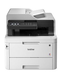 "Brother MFC-L3770CDW Compact Wireless Digital Color All-in-One Printer with NFC 3.7"" Color Touchscreen Automatic Document Feeder Wireless and Duplex Printing and Scanning MFCL3770CDW"