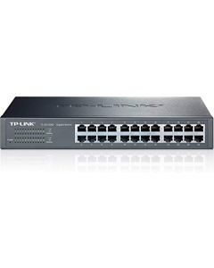 TP-Link 24-Port Gigabit Ethernet Unmanaged Switch | Plug and Play | Desktop/Rackmount | Fanless | Limited Lifetime (TL-SG1024D) TL-SG1024D