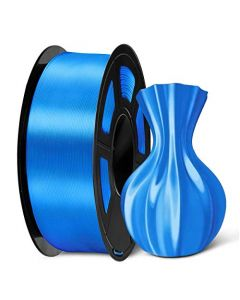SUNLU PLA Silk Blue Filament 1.75mm 3D Printer Filament 1KG 2.2 LBS Spool 3D Printing Material Shiny Metallic PLA Silk Filament SLUS-SILK-LG-BLUE-1KG