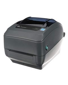 Zebra GX430t Thermal Transfer Desktop Printer Print Width of 4 in USB Serial Parallel and Ethernet Connectivity GX43-102410-000 GX43-102410-000
