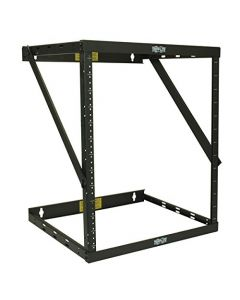 "Tripp Lite 8U/12U/22U Expandable Wall-Mount 2-Post Open Frame Rack Adjustable Network Equipment Rack Switch Depth 18"" Deep 5 Year Warranty (SRWO8U22) black 17.8 (8U)  24.8 (12U) 42.3 (22U) x 20.11 x 18.24 SRWO8U22"