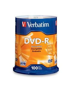 Verbatim DVD-R 4.7GB 16x AZO Recordable Media Disc - 100 Disc Spindle - 95102 95102