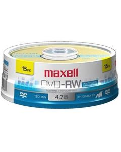 Maxell 635117 Rewritable Recording Format 4.7Gb DVD-RW Disc Playback on DVD Drive or Player and Archive High Capacity Files 635117