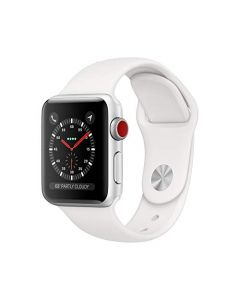 Apple Watch Series 3 (GPS + Cellular 38mm) - Silver Aluminum Case with White Sport Band MTGG2LL/A
