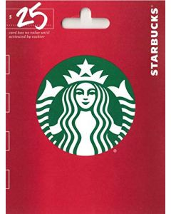 Starbucks $25 Gift Card Holiday
