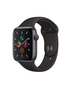Apple Watch Series 5 (GPS+Cellular 44mm) - Space Gray Aluminum Case with Black Sport Band MWW12LL/A