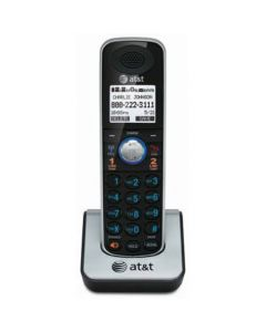 AT&T TL86009 Accessory Cordless Handset Black/Silver | Requires an AT&T TL86109 Expandable Phone System to Operate TL86009