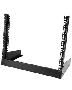 "StarTech.com 8U Open Frame Network Rack - 19"" 2 Post Free Standing Desktop Rack for Computer AV Media IT Data & Server Room Equipment (RK8OD) RK8OD"