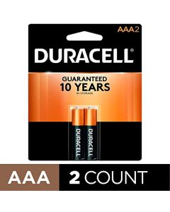 Duracell - CopperTop AAA Alkaline Batteries - long lasting all-purpose Triple A battery for household and business - 2 Count MN2400B2Z