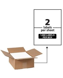 "Avery Waterproof Shipping Labels with TrueBlock 5-1/2"" x 8-1/2"" 1,000 White Labels (95526) AVE95526"