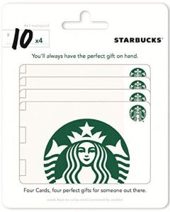 Starbucks 4 x $10 Gift Cards Multipack of 4
