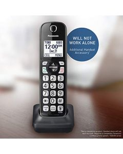 Panasonic Cordless Phone Handset Accessory Compatible with KX-TGD562 / KX-TGD563 / KX-TGD564 Series Cordless Phone Systems - KX-TGDA51M (Metallic Black) KX-TGDA51M