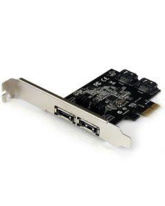 StarTech.com 2 Port PCI Express SATA 6 Gbps eSATA Controller Card - Dual Port PCIe SATA III Card - 2 Int/2 Ext - SATA III 6Gbps (PEXESAT322I) PEXESAT322I