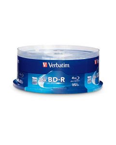 Verbatim BD-R 25GB 16X Blu-ray Recordable Media Disc - 25 Pack Spindle 97457