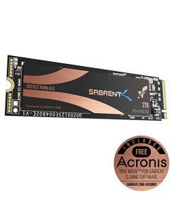 Sabrent 2TB Rocket NVMe 4.0 Gen4 PCIe M.2 Internal SSD Extreme Performance Solid State Drive (SB-ROCKET-NVMe4-2TB) SB-ROCKET-NVMe4-2TB