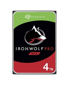 Seagate IronWolf Pro 4TB NAS Internal Hard Drive HDD – 3.5 Inch SATA 6Gb/s 7200 RPM 128MB Cache for RAID Network Attached Storage Data Recovery Service ST4000NE001