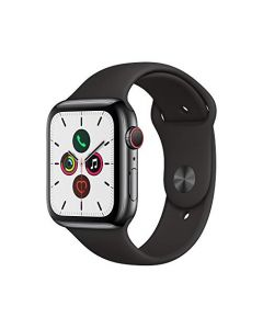 Apple Watch Series 5 (GPS+Cellular 44mm) - Space Black Stainless Steel Case with Black Sport Band MWW72LL/A