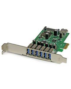 StarTech.com 7 Port PCI Express USB 3.0 Card - Standard & Low-Profile - SATA Power - UASP Support - 1 Internal & 6 External USB 3.0 Ports (PEXUSB3S7) PEXUSB3S7