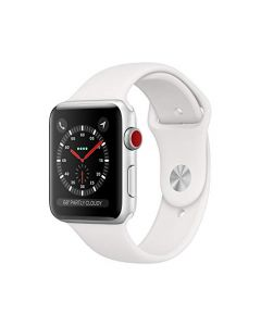 Apple Watch Series 3 (GPS + Cellular 42mm) - Silver Aluminum Case with White Sport Band MTGR2LL/A
