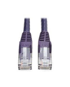 Tripp Lite Cat6 Gigabit Ethernet Snagless Molded Patch Cable 24 AWG 550MHz Premium UTP Purple RJ45 M/M 50' (N201-050-PU) N201-050-PU