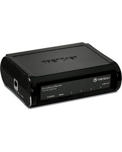 TRENDnet 4-Port Broadband Router,TW100-S4W1CA 4 x 10/100 Mbps Half/Full Duplex Switch Ports Instant Recognizing Remote Management Share High-Speed Cable/xDSL Internet Connection Plug & Play TW100-S4W1CA