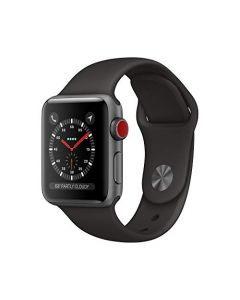 AppleWatch Series3 (Gps+Cellular 38mm) - Space Gray Aluminum Case with Black sport Band MTGH2LL/A