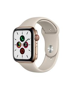 Apple Watch Series 5 (GPS+Cellular 44mm) - Gold Stainless Steel Case with Stone Sport Band MWW52LL/A