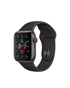 Apple Watch Series 5 (GPS+Cellular 40mm) - Space Black Stainless Steel Case with Black Sport Band MWWW2LL/A
