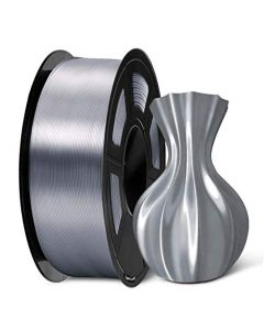 SUNLU PLA Silk Gray Filament 1.75mm 3D Printer Filament 1KG 2.2 LBS Spool Shiny Metallic PLA Silk Filament SLUS-SILK-LG-GRAY-1KG