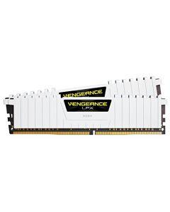 Corsair Vengeance LPX 16GB (2x8GB) DDR4 DRAM 3000MHz C15 Desktop Memory Kit - White (CMK16GX4M2B3000C15W) CMK16GX4M2B3000C15W