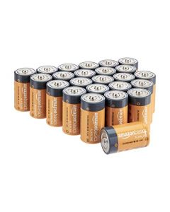 AmazonBasics D Cell 1.5 Volt Everyday Alkaline Batteries - Pack of 24 (Appearance may vary) LR20-24PK