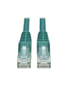 Tripp Lite Cat6 Gigabit Snagless Molded Patch Cable (RJ45 M/M) - Green 3-ft.(N201-003-GN) N201-003-GN