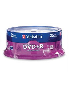 Verbatim DVD+R 4.7GB 16x AZO Recordable Media Disc - 25 Disc Spindle - 95033 95033