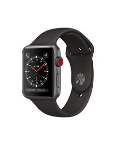 AppleWatch Series3 (Gps+Cellular 42mm) - Space Gray Aluminum Case with Black sport Band MTGT2LL/A
