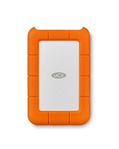 LaCie Rugged USB-C 4TB External Hard Drive Portable HDD – USB 3.0 Drop Shock Dust Rain Resistant Shuttle Drive for Mac and PC Computer Desktop Workstation Laptop 1 Month Adobe CC (STFR4000800) STFR4000800