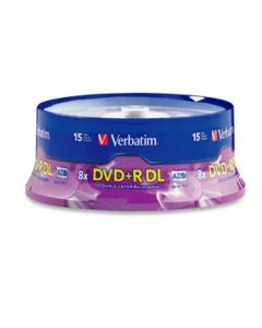 Verbatim DVD+R DL 8.5GB 8X AZO with Branded Surface - 15Pk Spindle 95484