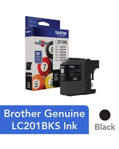Brother Genuine Standard Yield Black Ink Cartridge LC201BK Replacement Black Ink Page Yield Up To 260 Pages Amazon Dash Replenishment Cartridge LC201BK LC201BK
