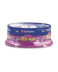 Verbatim DVD+R DL 8.5GB 8X with Branded Surface - 20pk Spindle 95310