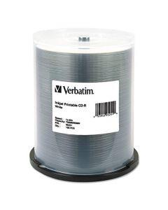 Verbatim CD-R 700MB 52X White Inkjet Printable Recordable Media Disc - 100pk Spindle 95251